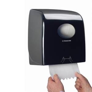 DISPENZER ZA UBRUS U ROLNI SLIMROLL AQUARIUS KIMBERLY-CLARK 7185 CRNI