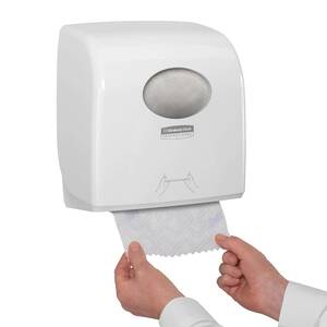 DISPENZER ZA UBRUS U ROLNI AQUARIUS SLIMROLL PUSH KIMBERLY-CLARK 7955 BELI